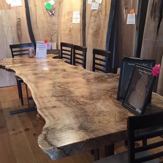 Live Edge Table Single Slab Table Full Burl Havest Table Ready
