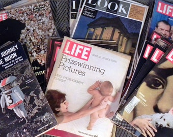 Lot of 31 Vintage Life and Look Magazines