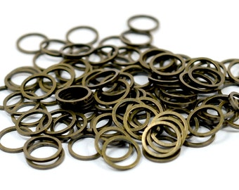 250 Pieces Antique Brass 10 mm Round Circle Findings