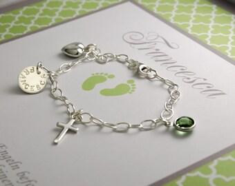 Baptism bracelet 925 sterling silver jewelry engraving