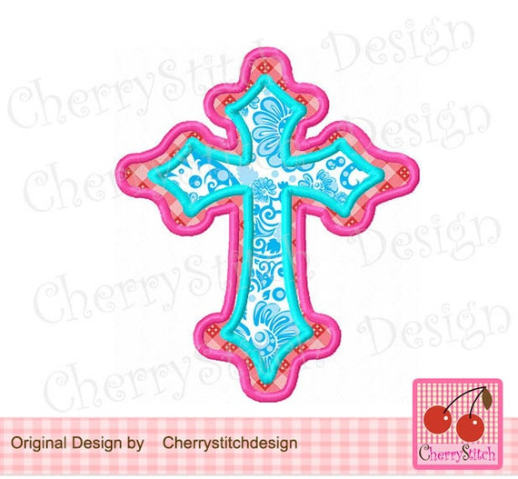Cross machine embroidery applique design approximate