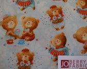 Teddy Bear Fabric, Puffy Teddy Fabric by Lucie Crovatto for Studio E, Quilt or Craft Fabric, Fabric by the Yard.