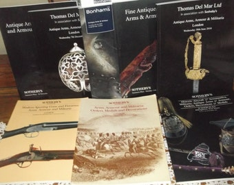 Collection  of Vintage Auction Catalogues on Militaria, Arms, Armour, Medals, Orders Etc, Sotheby's , Bonham's