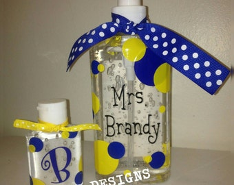 Set of 2 personalized hand sanitizers