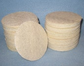 Naked Loofah  Pads -Round Facial Pads - Natural Exfoliant- Unisex.