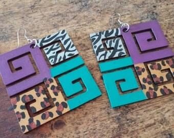 Keyz. RevampedHand Painted Earrings