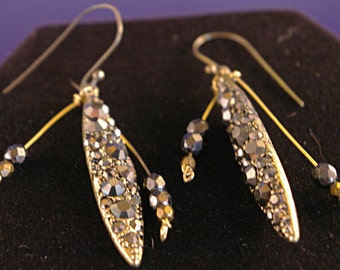 Marcasite Spikey Drop Earrings