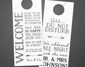 Reserved listing for Erica C. - Wedding Door Hanger