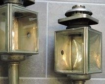 Pair Nickel Antique Carriage Lamps, great condition, rare