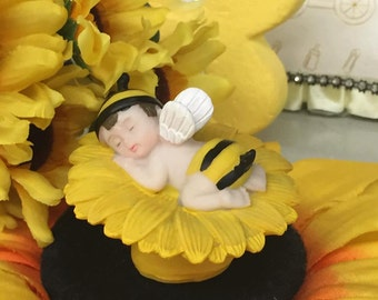 Baby Shower Baby Boy Bumble Bee Favor or Cake Topper or Centerpiece Choose Quantity