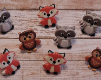 Woodland Friends Rings-Set of 12