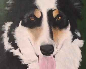 "Custom Painted Portrait of YOUR pet 11""x14"""