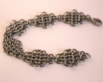 Stainless Steel European 4 in 1 Diamond Chainmaille Bracelet