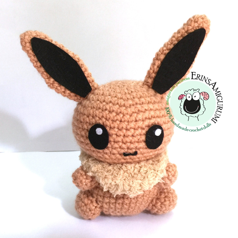 Eevee Pokemon Amigurumi Doll Made to order