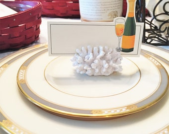 Champagne Place Setting Cards