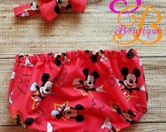 Mickey Mouse Smash cake outfit. Mouse diaper cover and bowtie
