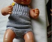 summer jump suit onesie 10 ' - 12 ' doll outfit set booties headband