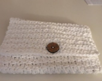 Clutch crocheted purse