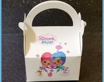 Shimmer and Shine Favor Box, Shimmer and Shine birthday favor Box, Lea, zac,kaz,rocket,tala