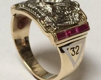 32nf Degree Scottish Rite Masonic Ring