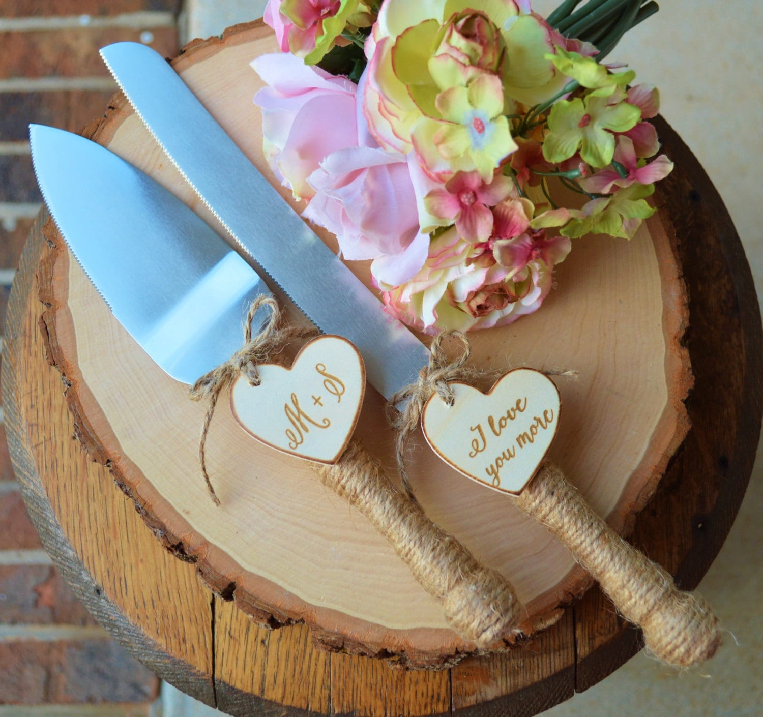 cake cutter for wedding personalized rustic wedding cake cutter and knife customized 2197