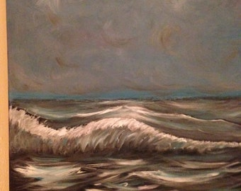 Stormy Seas Acrylic Abstract Painting