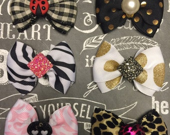 "Bows for Dogs or Girls - Any Occasion - Mini 2"" - 2 for 7.95"