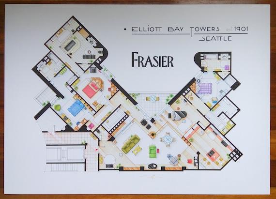 Frasier Apartment Floor Plan