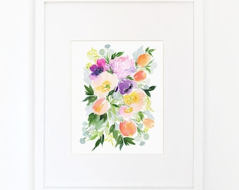 Poppies Arranged - Watercolor Art Print