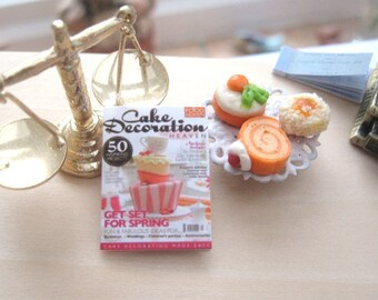 dollhouse magazine cake decoration miniature 12th scale