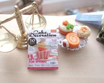 dollhouse magazine cake decoration miniature 12th scale