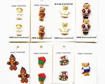 Angel Buttons, JHB Buttons, Teddy Bear Buttons, Craft Buttons, Decorative Buttons, Xmas Buttons, Sewing Button, JHB International, JHB Mix 1