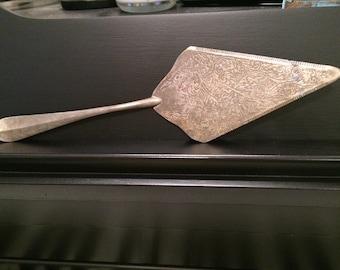 Silver vintage serving knife