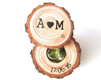 Engagement Ring Box | Wedding Ring Box | Rustic Ring Box | Wood Ring Box