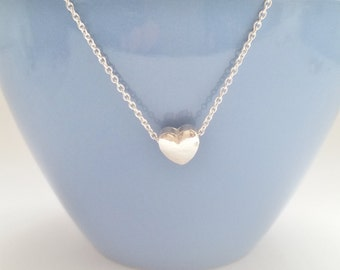 Heart-Necklace, Sterling Silver, Valentinesday, Gift, Love