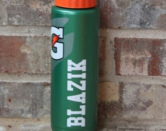 Personalized Gatorade water bottle