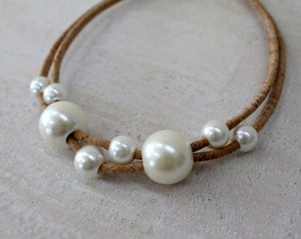 Pearl Cork Necklace