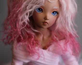"BJD wig mohair - Romantic Pink - 7/8"" LIMITED STOCK"