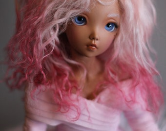 "BJD wig mohair - Romantic Pink - 6/7"" LIMITED STOCK"