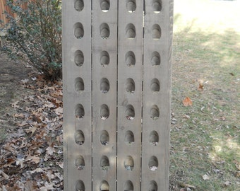 Barn Wood Grey  Riddling Rack, Gray Wine Rack, Wine Rack, Riddling Rack,