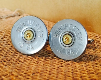 Shotgun shell cuff links, bullet cuff links