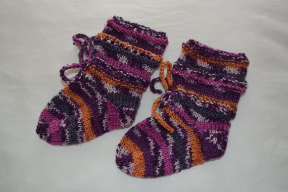 Baby Socks Bootees wool mix 4ply 0-6 months