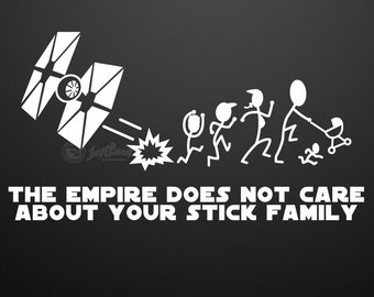 Nobody Cares About Your Stick Figure Family Custom Vinyl
