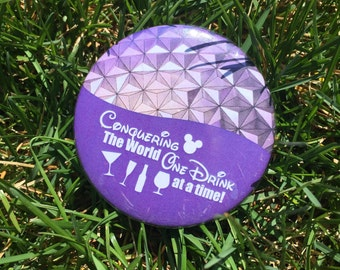 Drinking Around the World Disney button
