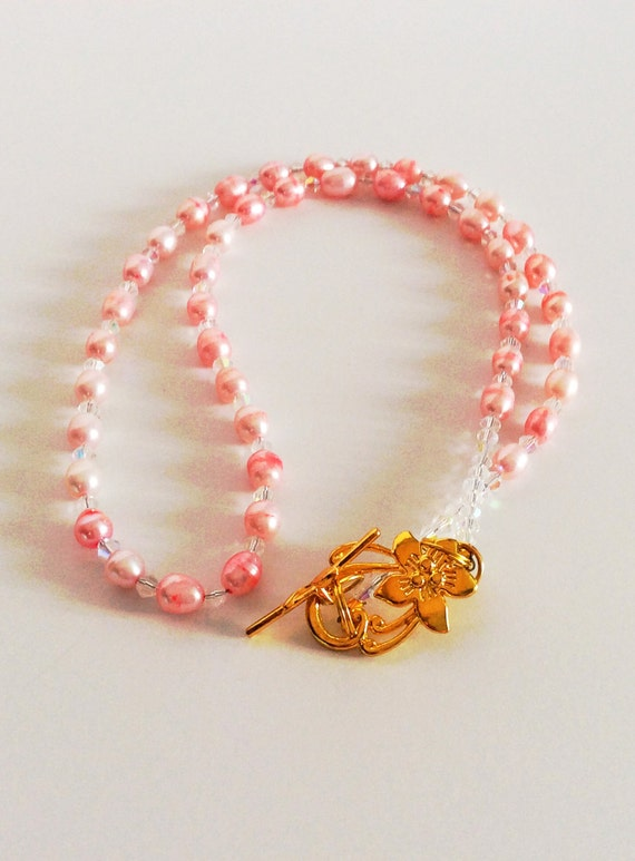CULTURED FRESHWATER PEARL Necklace Pink