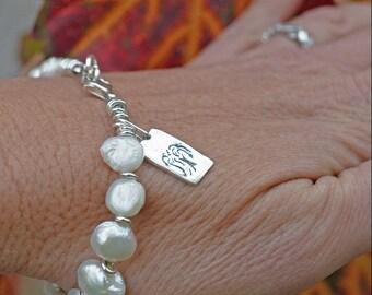 Willow Tree Pearl Bracelet - Pearl Bracelet - Nature Jewelry - Wedding Jewelry