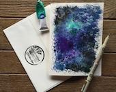 7x5 Hand Made Card Cosmos Galaxy Stars