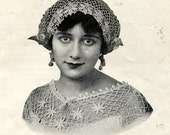 1915 Auto or Boudoir Cap - Crochet Pattern