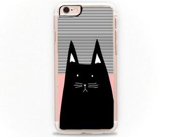 Cat Phone Case, Cat iPhone, Cat iPhone 6, iPhone 6 Case, Black Cat, iPhone 6S Case, iPhone 6 Plus Case, Cat Print, Cats, Cat iPhone 6,