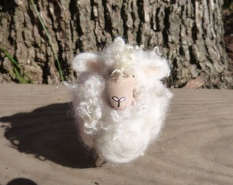Wooly Sheep Figurine